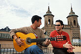 two young men only stock photography | Spain, Jerez, Centro Andaluz de Flamenco, image id 1-201-24