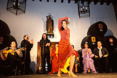 female stock photography | Spain, Jerez, Zambra del Sacromonte, flamenco group, image id 1-201-5