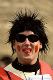humour stock photography | Spain, Cadiz, Man with frizzy hair at Carnival, image id 1-210-58