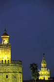 sunset stock photography | Spain, Seville, Torre del Oro, image id 1-253-9
