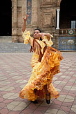 yellow stock photography | Spain, Seville, Flamenco dancer, image id 1-254-58