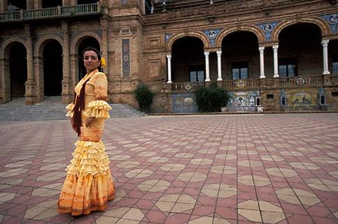 image 1-254-77 Spain, Seville, Flamenco dancer