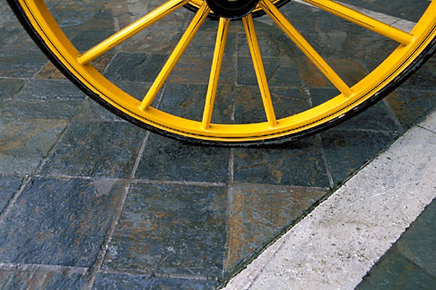 image 1-257-13 Still life, Carriage wheel