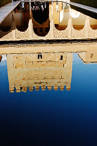 image S4-540-9792 Spain, Granada, Reflection, Palacio Nazaries, The Alhambra