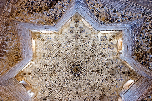 image S4-540-9867 Spain, Granada, Carved Ceiling, Alhambra