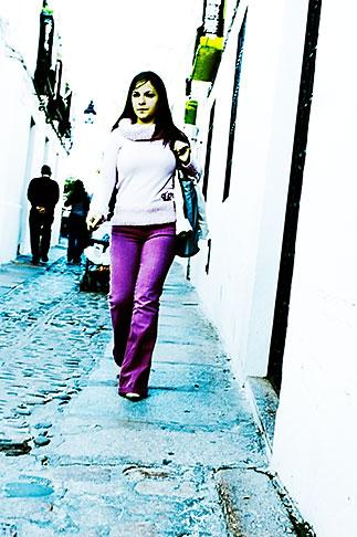 image S4-542-0050 Spain, Cordoba, Woman walking down the street