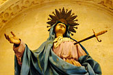 knife stock photography | Spain, Cordoba, Statue, La Mezquita, image id S4-542-0193