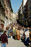 crowd stock photography | Spain, Madrid, El Rastro, street market, image id S4-545-514