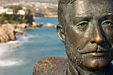 face stock photography | Spain, Nerja, Statue, Balcon de Europa, image id S5-127-9271