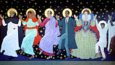 iconography stock photography | California, San Francisco, Dancing saints icon � St Gregory Nyssen Episcopal Church, image id 2-454-48