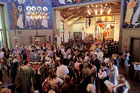 image 2-454-8 California, San Francisco, Around the altar St Gregory Nyssen Episcopal Church
