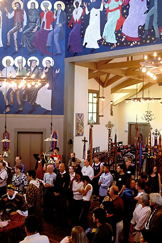 image 2-454-9 California, San Francisco, Around the altar St Gregory Nyssen Episcopal Church