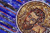 religious art stock photography | Religious Art, Mosaic of Moses, St Gregory Nyssen Church, image id 3-327-10