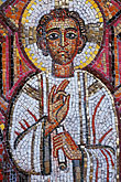people stock photography | California, San Francisco, Mosaic of Christ Child, St Gregory Nyssen Church, image id 3-330-9