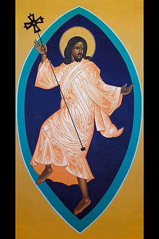 image 4-960-6240 California, San Francisco, St Gregory Nyssen Episcopal Church, Dancing Jesus icon by Mark Dukes