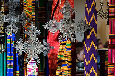 image 5-820-3740 Religious Art, Crosses and textiles
