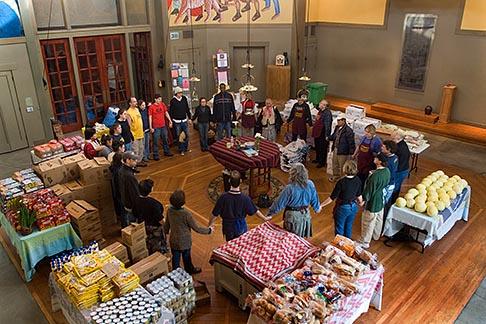 image 6-410-4135 California, San Francisco, Church food pantry for homeless