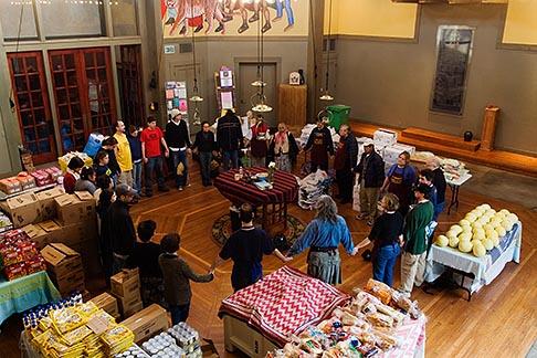 image 6-410-4143 California, San Francisco, Church food pantry for homeless
