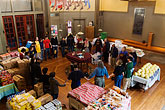 church stock photography | California, San Francisco, Church food pantry for homeless, image id 6-410-4143