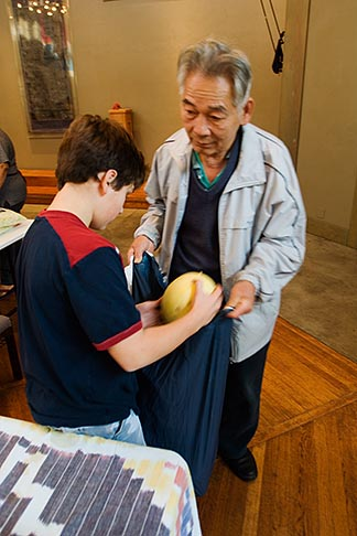 image 6-410-4198 California, San Francisco, Church food pantry for homeless
