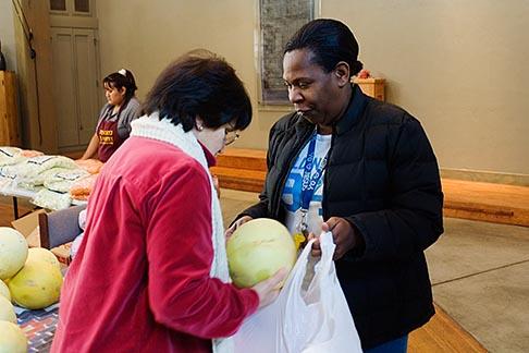 image 6-410-4270 California, San Francisco, Church food pantry for homeless