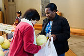 church stock photography | California, San Francisco, Church food pantry for homeless, image id 6-410-4270