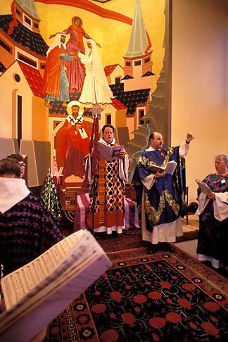 image 7-492-13 California, San Francisco, St Gregory Nyssen Episcopal Church, liturgy