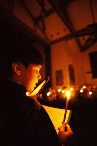 image 8-203-40 California, San Francisco, St Gregory Nyssen Church, Easter Vigil