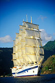 vertical stock photography | St. Lucia, Soufri�re, Royal Clipper sailing ship, image id 3-620-7