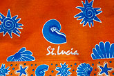 folk art stock photography | St. Lucia, Decorative fabric, image id 3-620-90