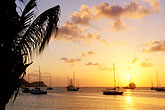 harbor and boats stock photography | St. Vincent, Bequia, Sunset, Admiralty Bay, image id 3-610-52