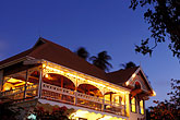 dusk stock photography | St. Vincent, Bequia, Port Elizabeth, Gingerbread restaurant & bar, image id 3-610-57