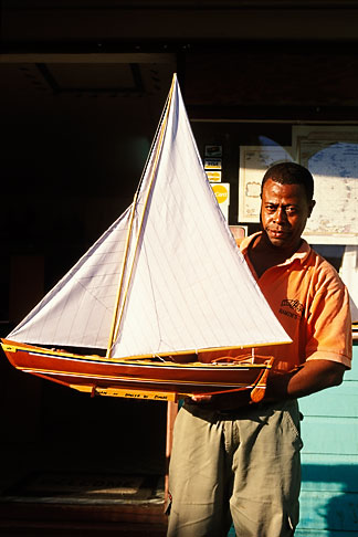 image 3-610-60 St Vincent, Bequia, Port Elizabeth, Model boat maker