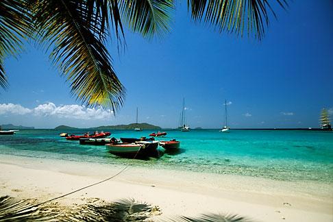 image 3-610-62 Caribbean Beaches, St Vincent, Tobago Cays, Horseshoe Reef, Petit Bateau island