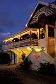 dusk stock photography | St. Vincent, Bequia, Port Elizabeth, Gingerbread restaurant & bar, image id 3-611-3