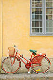 architecture stock photography | Sweden, G�teborg, Bicycle leaning against wall, image id 5-700-2031