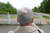 one mature man stock photography | Sweden, G�teborg, Tourist at Gunnebo Castle, image id 5-700-2578