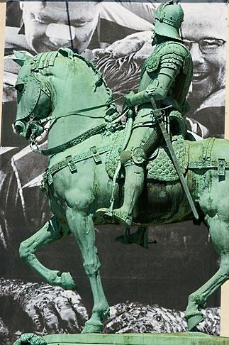 image 5-700-4634 Sweden, Goteborg, Statue of horseman