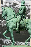 domestic animal stock photography | Sweden, G�teborg, Statue of horseman, image id 5-700-4634