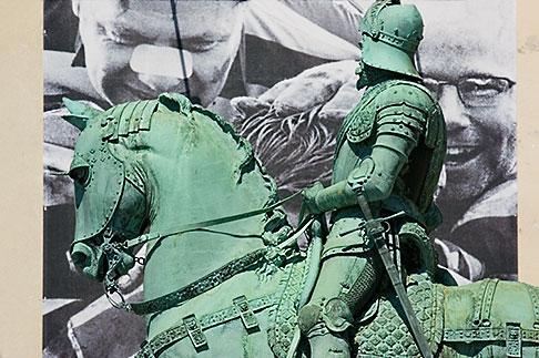 image 5-700-4635 Sweden, Goteborg, Statue of horseman