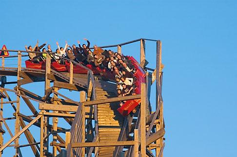 image 5-700-4711 Sweden, Goteborg, Rollercoaster, Liseberg Amusement Park