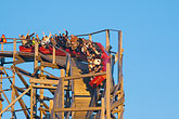 pleasure stock photography | Sweden, G�teborg, Rollercoaster, Liseberg Amusement Park, image id 5-700-4711