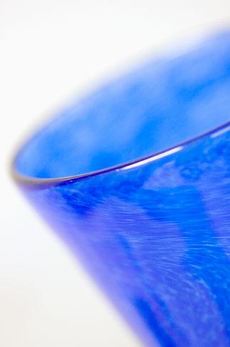 image 5-700-4727 Sweden, Goteborg, Blue glass goblet, Helena Gibson Studio