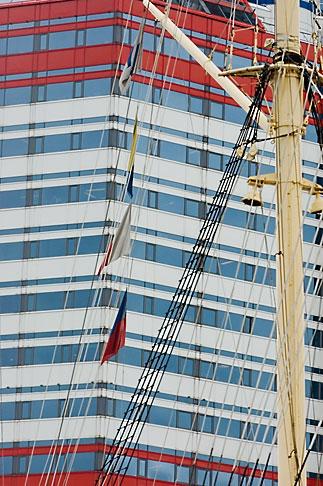 image 5-700-4874 Sweden, Goteborg, Goteborg Harbor, Barkenviking and Harbor Center