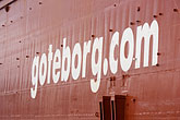 sign stock photography | Sweden, G�teborg, Container ship, image id 5-700-4900