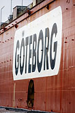 flag stock photography | Sweden, G�teborg, Container ship, image id 5-700-4902