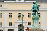 seated outdoors stock photography | Sweden, G�teborg, Statue of King Gustav Adolf, image id 5-700-4939