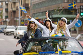 three teenagers stock photography | Sweden, G�teborg, Celebration of High School Graduation, image id 5-700-5029