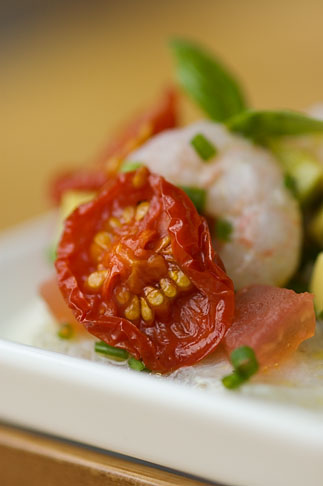 image 5-700-5086 Swedish food, Tomato and Shrimp appetizer