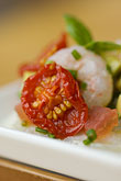 foodstuff stock photography | Swedish food, Tomato and Shrimp appetizer, image id 5-700-5086